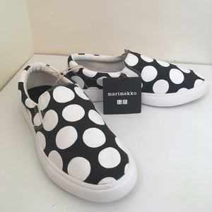 NWT marimekko Polka Dotted Canvas Shoes
